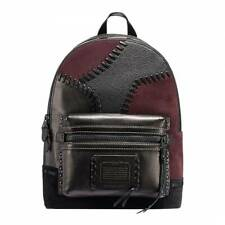 COACH Black/Mahogany Patchwork Academy Leather and Suede Backpack - RRP £695.00