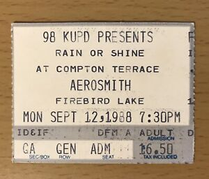 1988 AEROSMITH GUNS N' ROSES APPETITE TOUR PHOENIX CONCERT TICKET STUB AXL SLASH