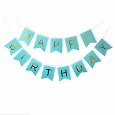 Feliz Cumpleaños Guirnalda Pancarta Dinosaurios Fiesta Decoracion Azul
