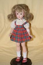 "PRETTY Vintage 14"" Effanbee Suzanne Composition Doll Original Dress Human Hair"