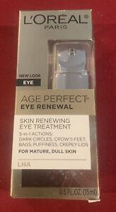 L'Oréal Age Perfect Eye Renewal.  .5 oz.  Free Shipping.