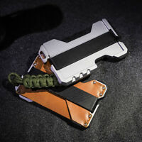 EDC Tactical Multi Tool Metal & Leather Wallet - up to 12 Card - Brown A Style