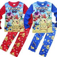 Kids Boy Girl Pokemon Go Pyjamas Casual Cartoon Nightwear Soft Leisure Clothes