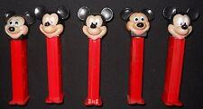 Disney Mickey Mouse Pez Dispensers Lot of 5 Yugoslavia Hungary Slovenia