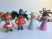 Cabbage Patch Kid CPK 1994 Mini PVC Dolls Figures Christmas Lot of 4 Figurines