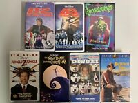 Lot of 7 Clamshell VHS Tapes - Mighty Ducks D2 D3, Goosebumps Disney Kids Movies