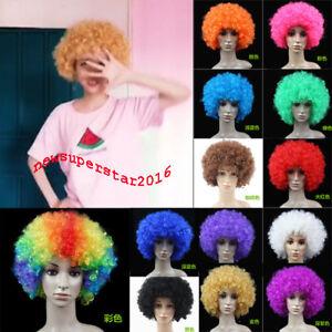 Headgear Curls Wig Hair Clown Cosplay Hairpiece Periwig Fake Hair Soccer Afro