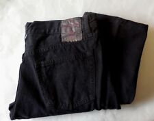 MEN'S NEW 900 REGULAR REPLAY BLACK / 5 BUTTON FRONT JEANS 36/32