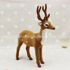"Furry Sika Deer Elk Antler Christmas Ornament Decoration Adornment H6.7""/17cm"