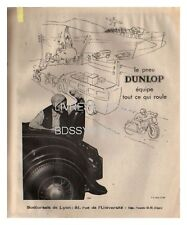 1933 DOCUMENT (ref Eiv 662) PUB   : PNEU DUNLOP   1p