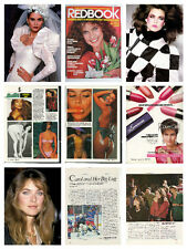 Carol Alt nice collection / lot magazine articles clippings & photos   S1
