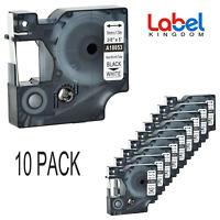 10 PK Replace DYMO 18053 18054 Industrial Heat Shrink Tube Label 9mm Rhino 4200