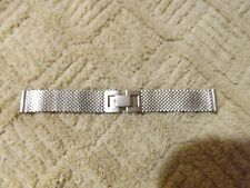 Vintage PM Speedmaster Stainless steel mesh watch band 1/20th 12k white GF 15mm