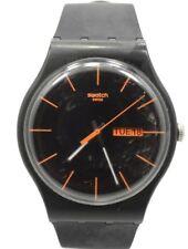 Swatch SUOB704 Dark Rebel Black Dial Silicone Strap Unisex Watch