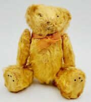 """Antique Early Golden Mohair Miniature Jointed Teddy Bear 5"""""""