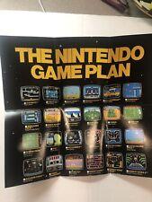 Nintendo Game Plan - Mint Cond insert ROB The ROBOT Poster NES Nintendo 1986