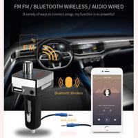 L6 Dual USB Wireless Bluetooth Car Kit FM Transmitter Charger Audio MP3 Player