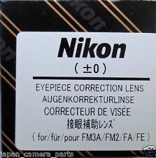 Nikon FM3A, FM2,FA ,FE2 Eyepiece Diopter +0 Genuine Nikon