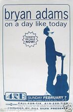 "Bryan Adams 1999 ""On A Day Like Today Tour"" San Diego Concert Poster-Canada Rock"