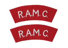 R.A.M.C. Shoulder Titles - WW2 Repro Royal Army Medical Corps Patches Badges New