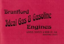 Brantford Ideal Canada Gas Flywheel Motor Engines Hit & Miss Book Catalog Manual