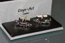 Novelty Cufflinks - Sausage Dog Daschund Design - *Boxed*