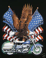 XL T shirt Freedom Rider Motorcycle Black New Bike Biker Eagle Flag TEE GIFT