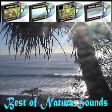 Nature Sounds Waves Rain Raindrops Birds Rainforest Sleep Natural Relaxation 4cd