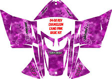 SNOWMOBILE SKI DOO WRAP KIT REV,XP, XR,XS,XM 03-16 CHAMELEON PINK DECAL STICKER