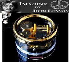 Gorgerous Circle in Gold Wind Up Music Box : IMAGINE @ JOHN LENNON