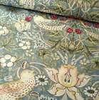 William Morris Strawberry Thief Fabric Blue 150cm wide