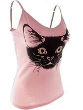 Chartreux Cat Shirt Women's Shelf Bra Tank Top, Baby Pink