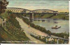 "Australia Sg#288(x2)Brisbane My/22/09 postcard view ""Albert Bridge"