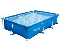 "Bestway Rectangular 118"" x 79"" x 26"" Deluxe Splash Frame Kids Pool | 56043US"