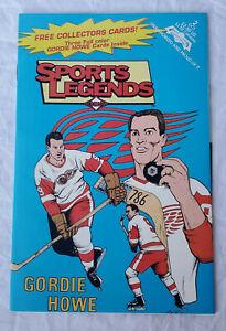 Vintage Sports Legends Detroit Red Wings Gordie Howe Hockey Comic Book w 3 cards