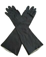 Vintage Womens Aris Of Paris Black Real Kid Leather Gloves size 6.5