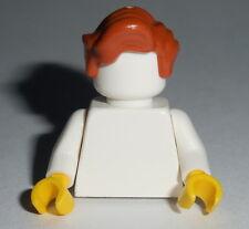 HAIR Lego M005 Male / Unisex Dark Orange Wavy Short NEW Genuine Lego Girl Lupin