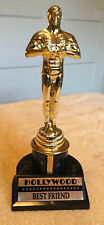 "8 1/2"" OSCAR TROPHY HOLLYWOOD BEST FRIEND Pre-owned"