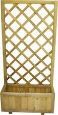 Fioriera legno grigliato impregnato autoclavato cm 70x35x150 h