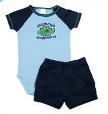 "Carter's 2-piece Bodysuit & Pull-On Short Set ""Mommy's Snugglesaurus"", 9 months"