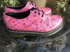 Original Dr Martens 10084 pink Floral leather Air Wair shoes size 4 UK
