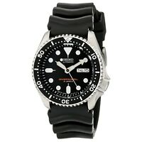 SEIKO SKX007J1 Analog Automatic Black Dial Black Rubber 200m Diver's Watch Japan