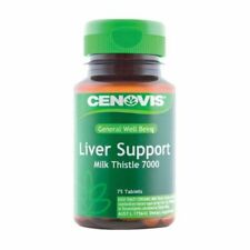 CENOVIS LIVER SUPPORT MILK THISTLE 7000MG 75 TABLETS PROTECT SUPPORT LIVER