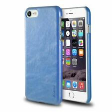 Blue Luxury Ultra-thin PU Leather Back Skin Case Cover For iPhone SE 2020