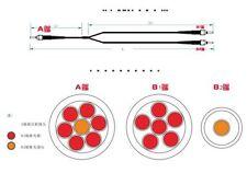 400μm Y-type fiber optic 1-7 fiber 6 + 1 fiber quartz fiber bundle SMA905 1m