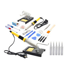 23in1 Rework Welding Soldering Iron Station Tools Kit with Iron Stand 110V 60W