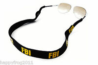 FBI POLICE Spectacle Glasses Sunglasses Neoprene Stretchy Head Band Strap Cord