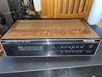 Vintage Panasonic Wood Grain Digital Alarm Clock Radio RC-6210 Retro Home Decor