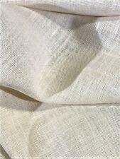 "Burlap Off White 100% Jute Upholstery Fabric 57"" Wide 10 Oz Premium Upholstery"
