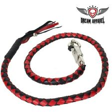 """50"""" Long Black and Red Get Back Whip for Motorcycles - free shipping"""